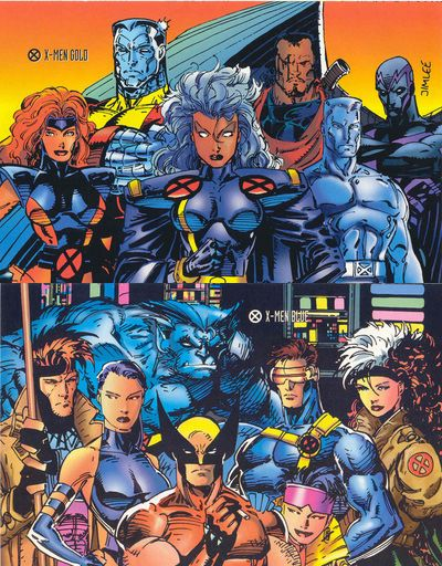 Xmen Gold and Blue